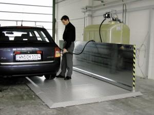 Compacte Cemo tank voor aftanken van brandstoffen
