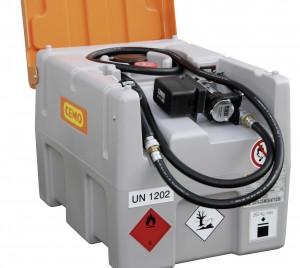 Mobiele Cemo 200 liter tank met accu systeem en vulslang