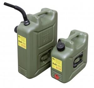 10 liter en 20 liter Cemo ExO tank met trechter