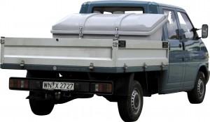 Opslag/transportbak als voertuigbox van polyethyleen voor transport en opslag
