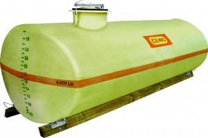 Watertank als GVK-vaten, ovaal-vormig