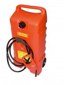 Brandstoftrolley voor benzine met 53 liter inhoud van HD-PE materiaal (van Cemo)
