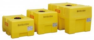 Watertank als kastvormige PE (polyethyleen) vaten
