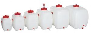watervaten  als drinkbakken van PE (polyethyleen) materiaal  met aftapkraan