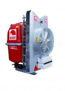 Fruitteeltspuit DAL 24 /DAL28  driepuntsaanspanning met Axiaal -dwarsstroomblazer en met GVK tank, met 200/300 liter inhoud