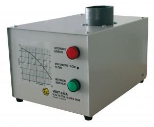 Ventilator  met  luchtstroomcontrole bij veiligheidskasten