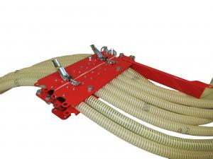 Slangkoppeling met bajonetsluiting van de individuele slangen bij pneumatische zaaimachines(prijslijst blz. 61)
