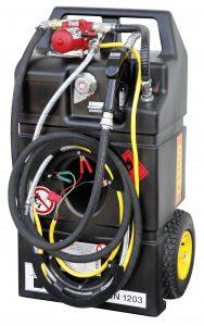 Brandstof-afzuigapparaat, mobiel als trolley-uitvoering voor brandstof