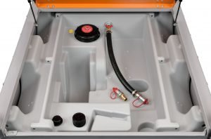 Dieseltank DT mobiel Easy  mit 980 liter inhoud en combi uitvoering 850/100 liter