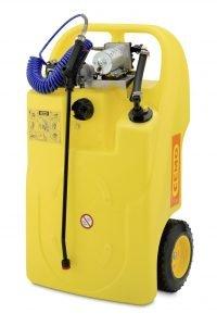 Mobiele tank, caddy 60 liter, handpomp v. ruitensproeier, koelvloeistof en remschijven-reiniger