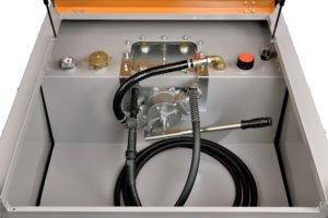 Dieseltank DT-mobiel PRO ST, 980 liter  inhoud,  met stalen binnentank (zie blz 54)