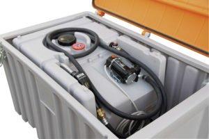 Cembox 400 liter voor opslag van DT mobiel Easy  125 en 200  liter inhoud met accu (zie blz 47)