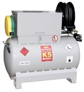 Afzuigen en aftanken met mobiele 300 liter tank voor benzine, 2-tact-mix en diesel (blz.187)