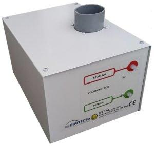Ontluchtingsventilator met actief koolstof filter(blz 180)