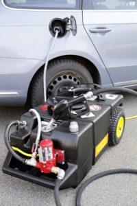 Afzuig-en tank-trolley, mobiel voor benzine, 2 tact-mix en diesel(prijslijst blz. 204)