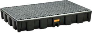 Opvangbakken, PE  oppervlakte-bescherm-systeem HD met gegalvaniseerd stalen rooster, ( Prijslijst blz. 168)