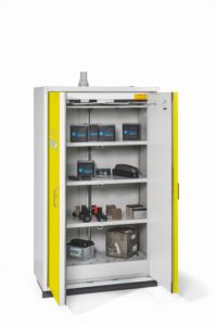 Veiligheidskast PRO  FWF  90 voor opslag van Lithium accu's (prijslijst blz. 198)